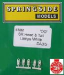 Springside DA3 - OO Scale   Sr Head & Tail Lamps White (5)